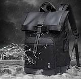 Рюкзак роллтоп Bange BG-G66 отделение для ноутбука планшета влагозащищенный черный 30 л, фото 4