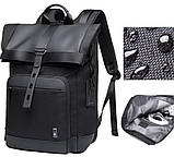 Рюкзак роллтоп Bange BG-G66 отделение для ноутбука планшета влагозащищенный черный 30 л, фото 3