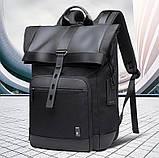 Рюкзак роллтоп Bange BG-G66 отделение для ноутбука планшета влагозащищенный черный 30 л, фото 7