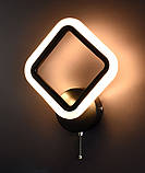 Бра настенное Led (8х22х34 см.) Матовый черный или белый YR-2400/1S-bk, фото 3