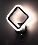 Бра настенное Led (8х22х34 см.) Матовый черный или белый YR-2400/1S-bk, фото 4