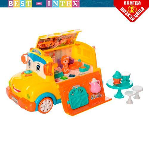 Детский игровой набор Bambi BT-2223E Автобус с мебелью Желтый