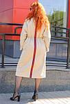 Стильное женское плащевое  бежевое пальто, фото 2