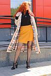 Стильное женское плащевое  бежевое пальто, фото 3