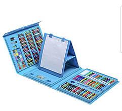 Розкладний набір для малювання з мольбертом блакитний 208 предметів   Художній Набір для творчості
