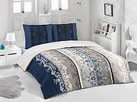 Трикотажное постельное бельё с простыней на резинке ACELYA Riva