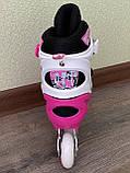 Детские Ролики+Шлем+Защита Scale Sport. Pink,  роликовые коньки детские, Розовые, размер 29-33, 34-37, фото 3