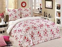 Трикотажное постельное бельё с простыней на резинке ACELYA Bonita розовая
