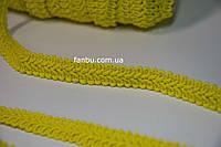 """Цветная тесьма """"шанель шубная"""" желтая ,ширина 1.2см(1упаковка-50метров)"""
