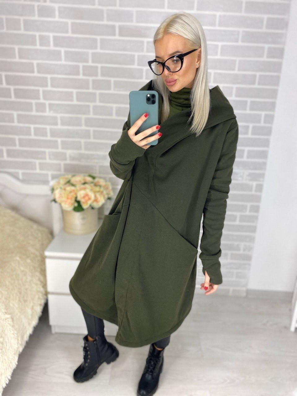 Батальное женское пальто оригинальное 48-54 (в расцветках)