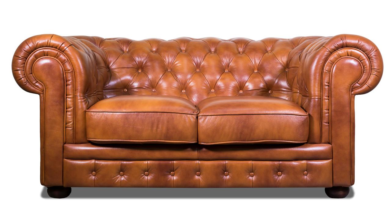 """Раскладной 2х местный кожаный диван в английском стиле """"Chester klassik"""" (Честер Классик). (171 см)"""
