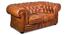 """Розкладний 2х місний шкіряний диван в англійському стилі """"Chester klassik"""" (Честер Класик). (171 см), фото 2"""