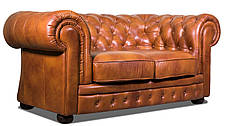"""Раскладной 2х местный кожаный диван в английском стиле """"Chester klassik"""" (Честер Классик). (171 см), фото 3"""