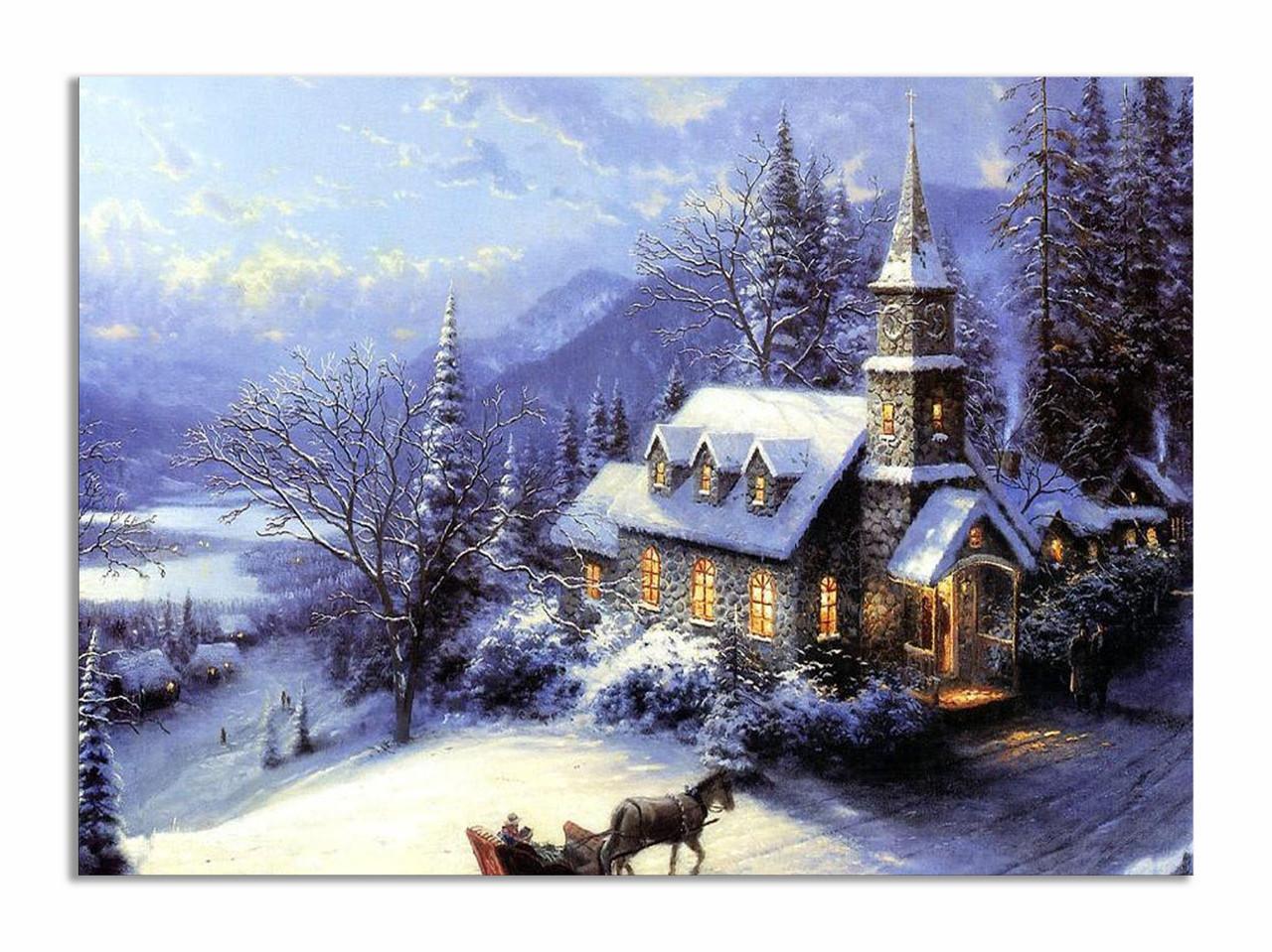 """Картина на полотні """"Зимова казка"""""""