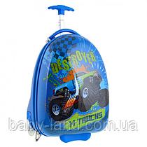 Детский пластиковый чемодан на колесах для мальчика YES ʺM-Trucksʺ 557830