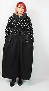 Турецкое длинное женское пальто больших размеров 52-64