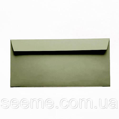 Конверт 220x110 мм, цвет зеленый чай