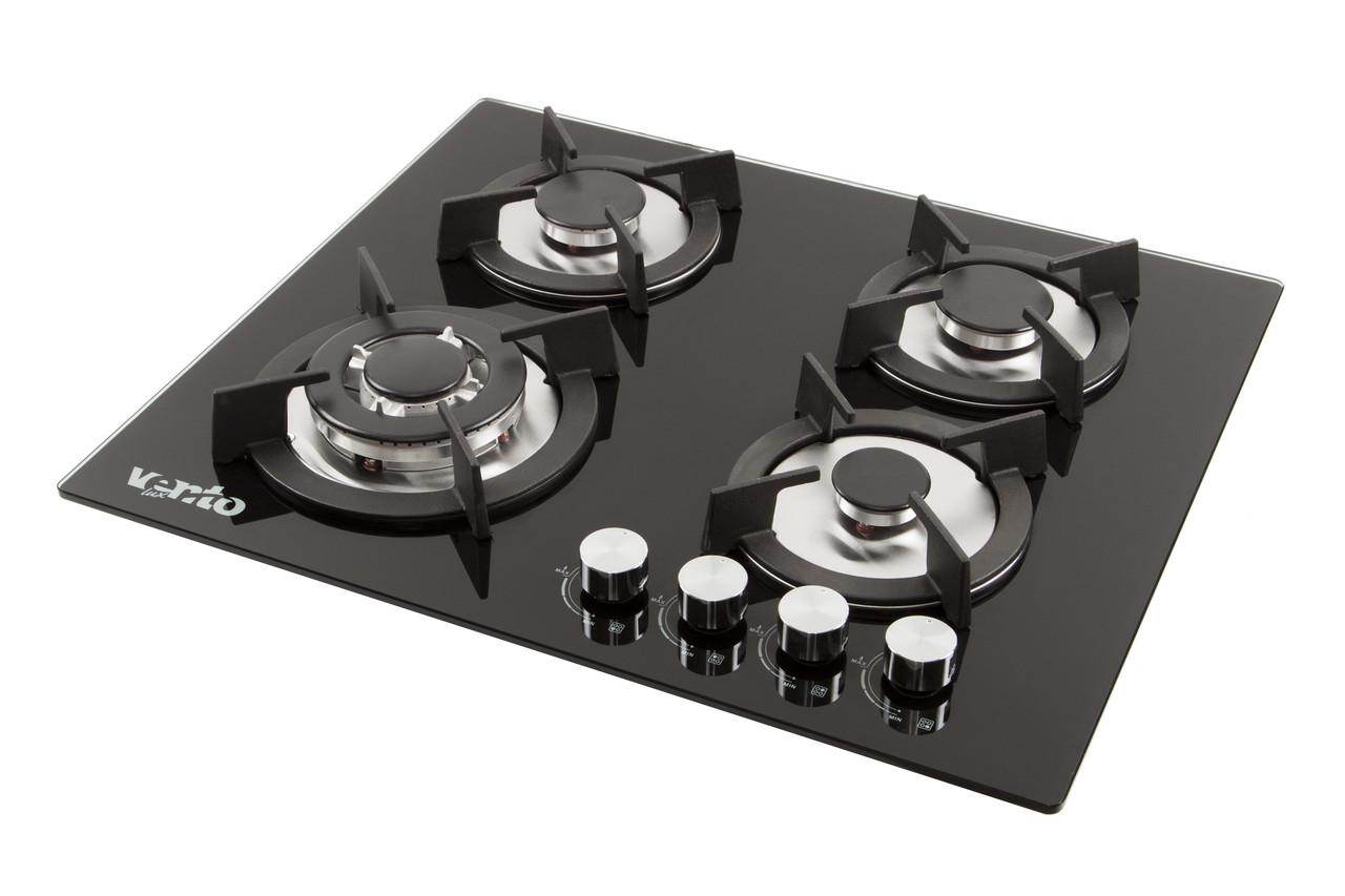 Поверхность газовая Ventolux HG K7 CEST (BK) черное стекло