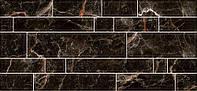 23х50 Керамічна плитка стіна чорна Plaza кухня фартух Плаза