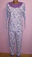 Пижама женская теплая с кокеткой, фото 1