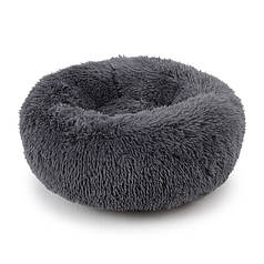Подушка-лежак Taotaopets 552201 L Dark Grey пуфик для котов собак круглый