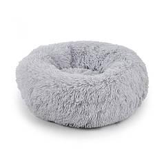 Подушка-лежак Taotaopets 552201 S Grey пуфик для котов собак круглый