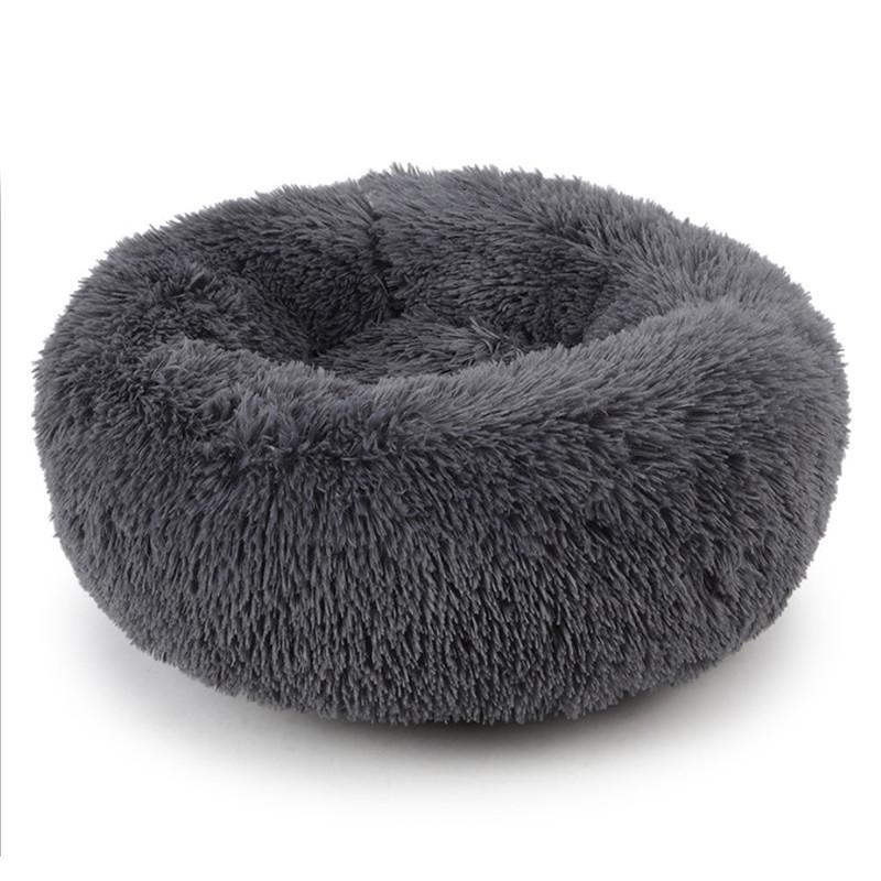 Подушка-лежак Taotaopets 552201 XL Dark Grey пуфик для котов собак круглый