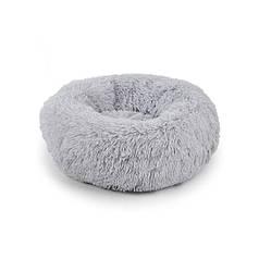 Подушка-лежак Taotaopets 552201 M Grey пуфик для котов собак круглый