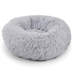 Подушка-лежак Taotaopets 552201 XL Grey пуфик для котов собак круглый