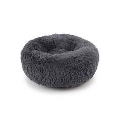 Подушка-лежак Taotaopets 552201 M Dark Grey пуфик для котов собак круглый