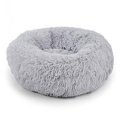 Подушка-лежак Taotaopets 552201 L Grey пуфик для котов собак круглый