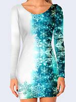 3D платье Ажурные снежинки (Размер: XL(50), Фасон: Женский)