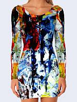 3D платье Разводы краски (Размер: M(46), Фасон: Женский)