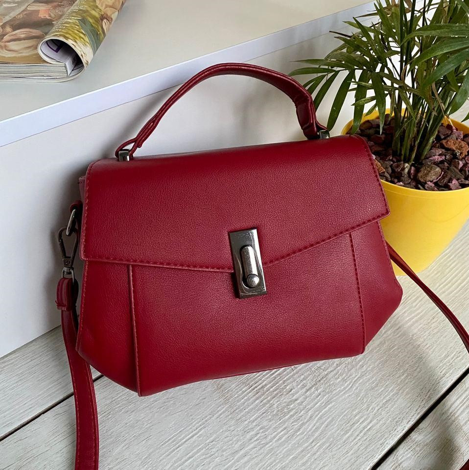 Жіноча сумочка Керрі червона СКК26