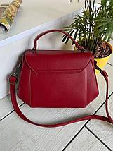 Жіноча сумочка Керрі червона СКК26, фото 2