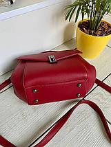 Жіноча сумочка Керрі червона СКК26, фото 3