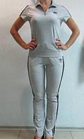Женский летний спортивный костюм Adidas светло серый (9987) код 901А
