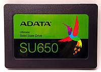 "Накопитель SSD ADATA Ultimate SU650 120GB 2.5"" SATA III 3D NAND TLC (ASU650SS-120GT-R), фото 1"