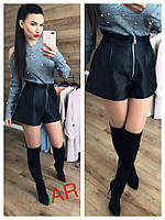Стильные женские шорты, черные, 504-066, фото 1