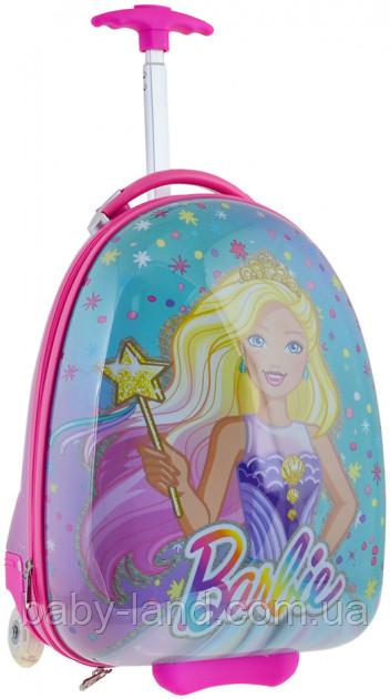 Детский пластиковый чемодан на колесах для девочки YES ʺБарбиʺ 557828