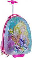 Детский пластиковый чемодан на колесах для девочки YES ʺБарбиʺ 557828, фото 1
