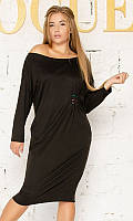 Платье 881996/1 50/52 чёрный