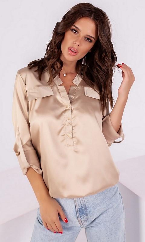 Блуза 53199/1 42 бежевый