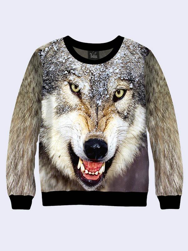 Свитшот Разъяренный волк (Размер: L(50), Фасон: Мужской)