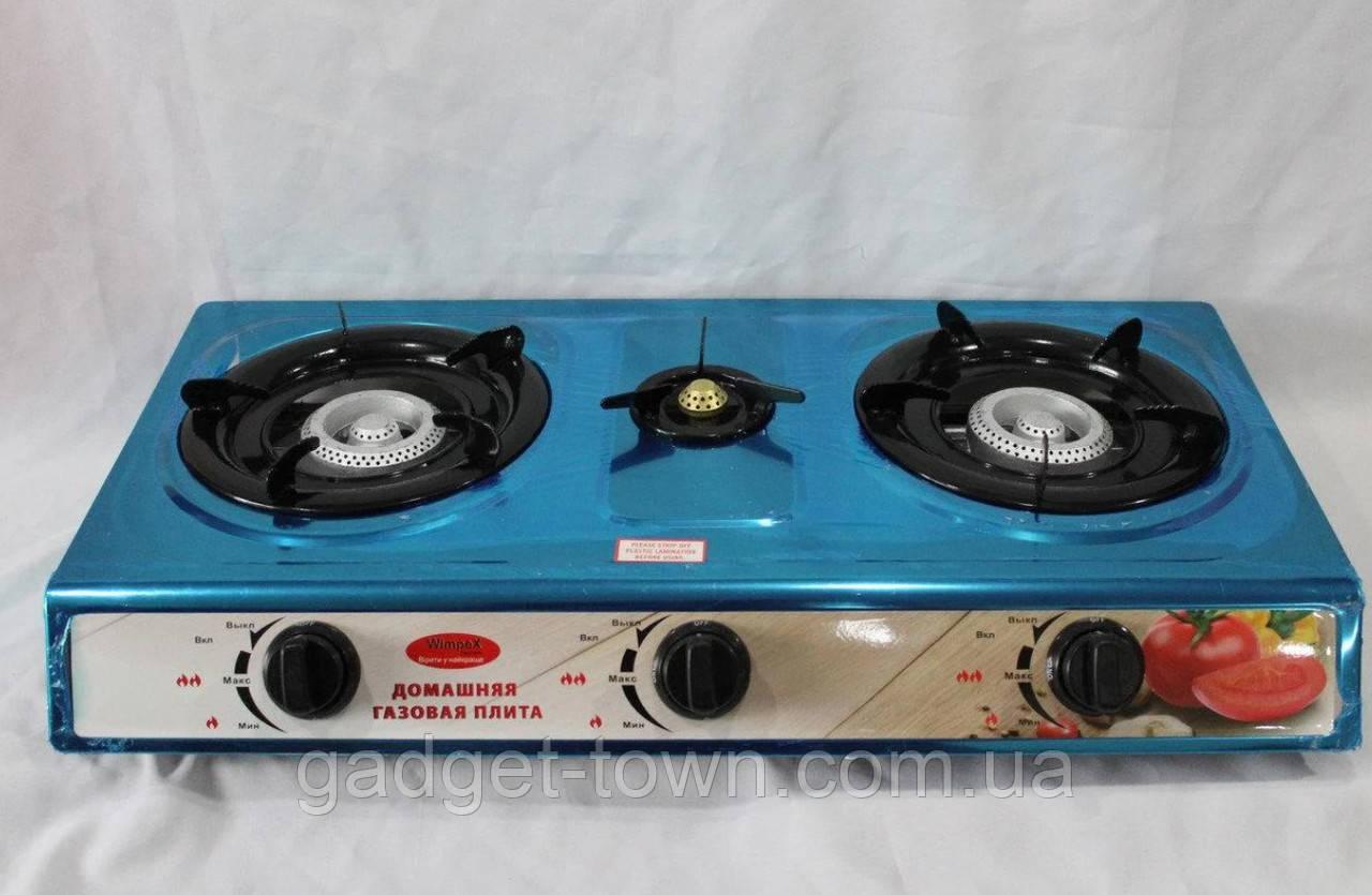 Газовая плита таганок c пьезоподжигом на 3 конфорки