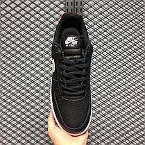 """Кроссовки Nike Air Force 1 Low Brushstroke Swoosh """"Черные/Белые"""", фото 2"""