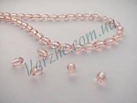 Хрустальная бусина, ирис, розовая, 4х6 мм