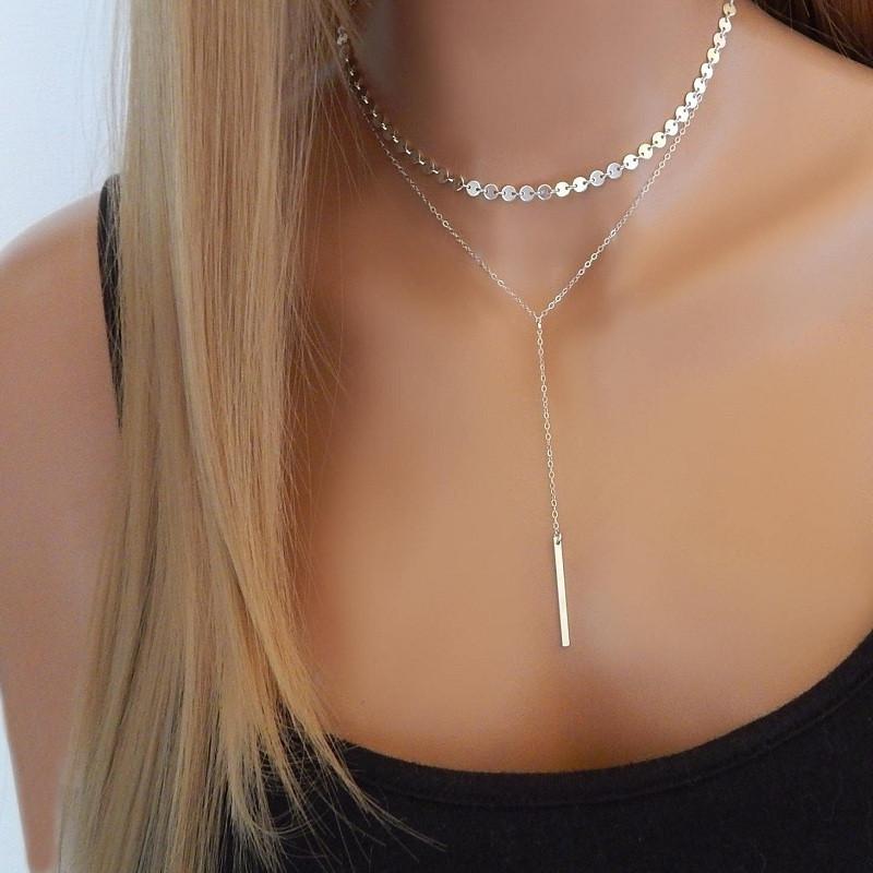 Многослойное колье/ожерелье серебряное