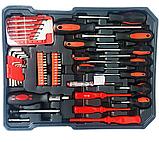 Великий набір інструментів 399 pcs від Swiss Craft International PL-399ТLG, у валізі, з ручкою і колесами, фото 2