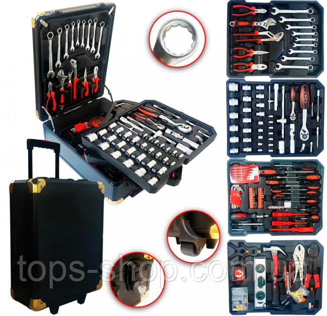 Великий набір інструментів 399 pcs від Swiss Craft International PL-399ТLG, у валізі, з ручкою і колесами